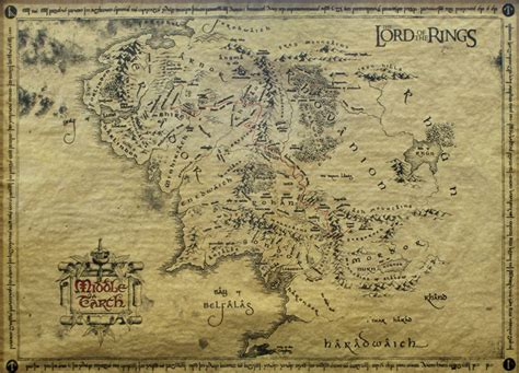 lord of rings map sagan om ringen karta 246 ver midg 229 rd special poster p 229