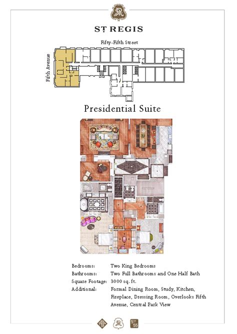 presidential suite floor plan presidential suite the st regis new york