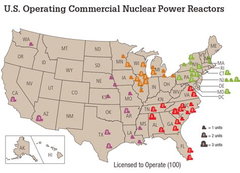 map of nuclear reactors in usa the u s electricity system in 15 maps sparklibrary