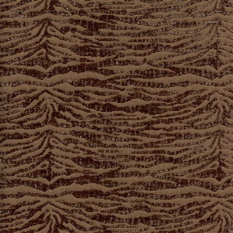 Discount Chenille Upholstery Fabric by Novice Walnut Brown Chenille Animal Print Upholstery