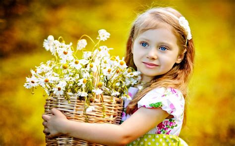 wallpaper flower girl flower little girl hd wallpapers