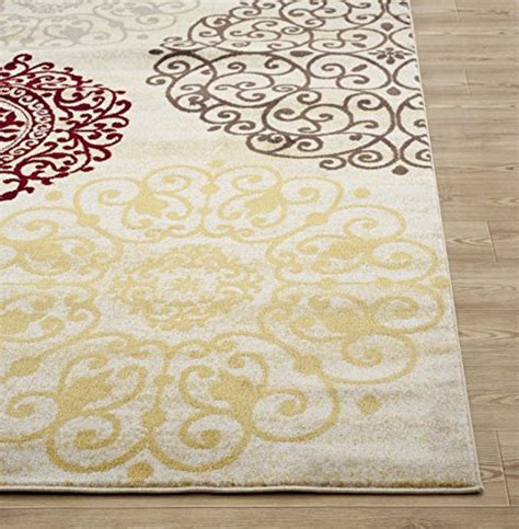 Rugshop Contemporary Modern Floral Indoor Soft Area Rug 5 Contemporary Floral Area Rugs