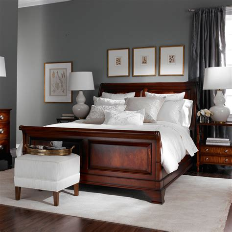 beige paint color bedroom wall and brown bed furniture brown hairs