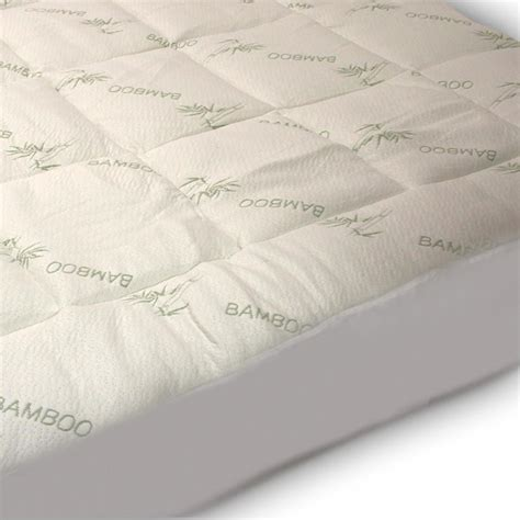Bamboo Mattress Topper by Plush Bamboo Fitted Mattress Pad Snug Fit Topper