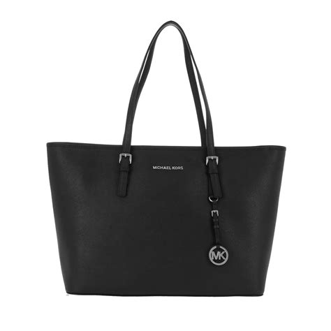 Michael Kors Jet Set Travel michael kors jet set travel tz tote silver black in