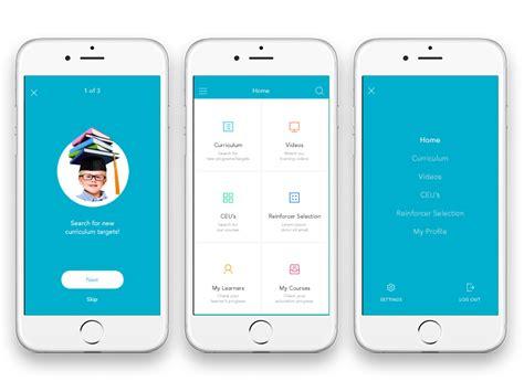 app design learn e learning app by andra margoi dribbble