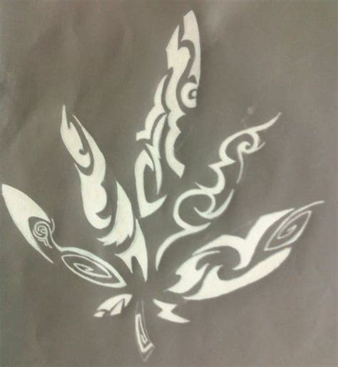 leaf tribal tattoo tribal pot leaf drawing www pixshark images