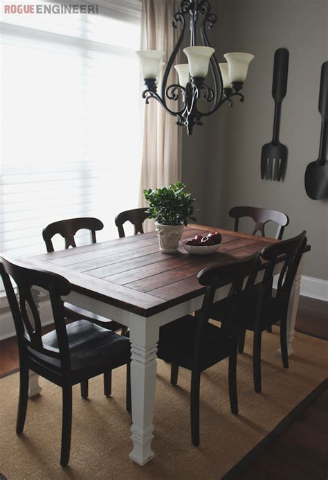 dining room farm table builders show a contemporary farmhouse table from rogue