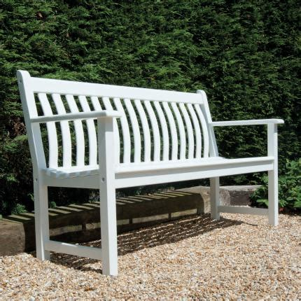white garden bench uk alexander rose new england broadfield bench 3 seater
