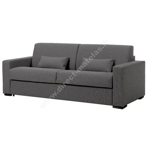 canap駸 m canap 233 convertible d m leo couchage 140x190 tissu gris