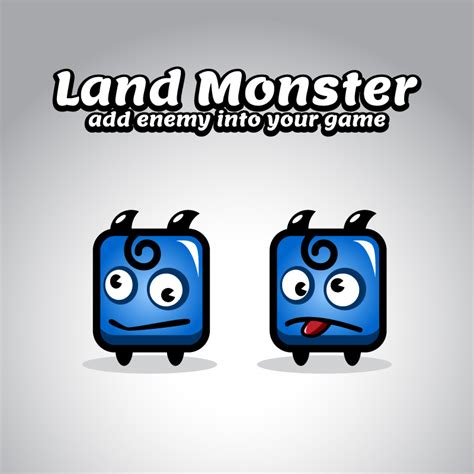 blue land monster sprites opengameartorg