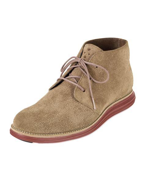 cole haan chukka boots cole haan lunargrand chukka boot tanred in beige 13 lyst