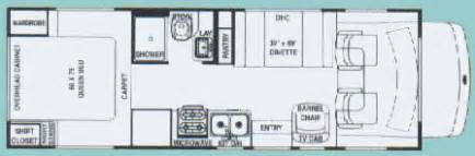 24 Foot Motorhome Floor Plans 24 Ftclass C Motorhome Floor Plans Submited Images
