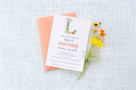 Monogram Baby Shower Invitations by Floral Monogram Shower Invitation Bridal Shower Invite