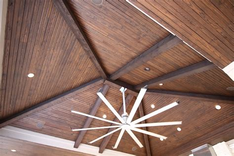 wood paneled ceilings