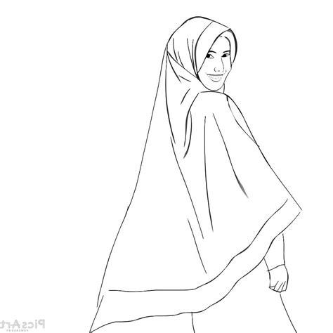gambar tato kartun simpel 12 gambar sketsa muslimah terbaru cantik dan simple 2018