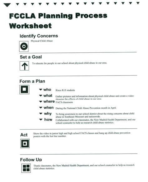 process notes template fccla planning process template out of darkness