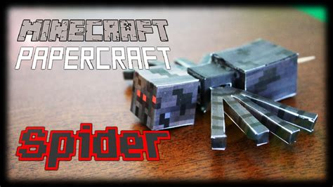 Minecraft Papercraft Spider - how to make a minecraft papercraft spider functional