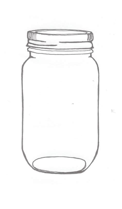Mason Jar Illustrations An Ink Drawing Of A Mason Jar Related To The Current Project At Jar Printable Template