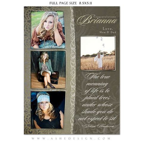 Senior Yearbook Ad Sets For Photographers Antique By Ashedesign Senior Ads Pinterest Yearbook Dedication Page Template Free