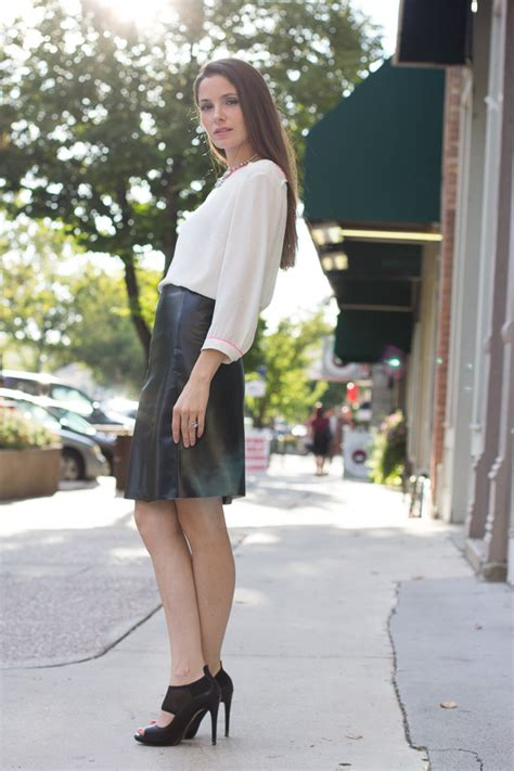 diy leather a line skirt