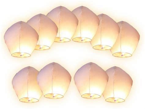 mongolfiere volanti 10 lanterne volanti colore a scelta tra bianche o rosa
