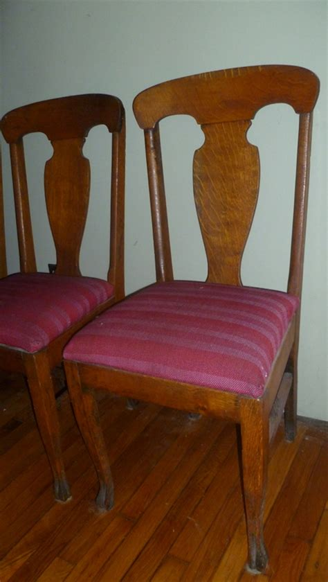antique oak dining room chairs antique oak dining room table w leaves four straight
