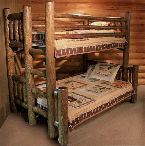 cedar log bunk bed by robert r norman and woodzy org log bunkbeds with desk rustic log bunk bed from