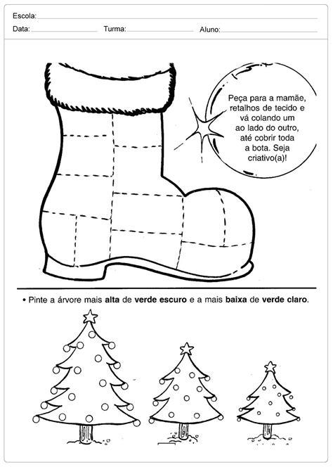 Atividades Escolares de Natal - Bota Criativa - Escola