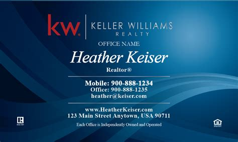 template for the back of the card keller williams keller williams realty business card templates