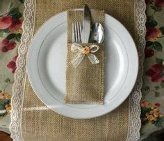 1000+ ideas about burlap silverware holder on pinterest