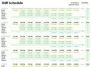 Microsoft Excel Schedule Template by Employee Shift Schedule Template For Excel For
