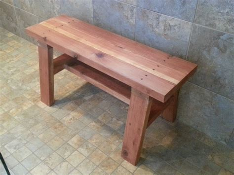 building a shower bench ana white redwood shower bench diy projects
