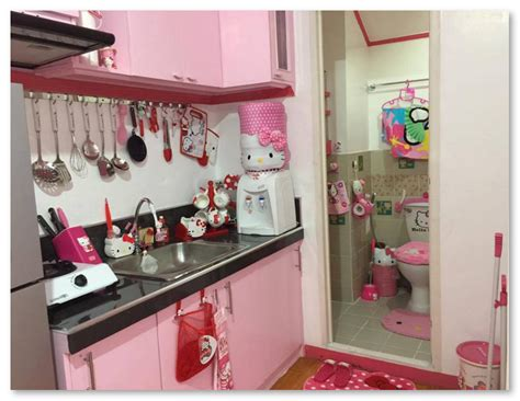 wallpaper dapur unik denah rumah hello kitty contoh sur