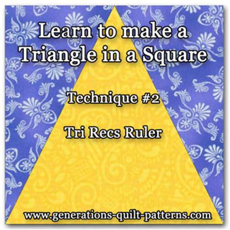 Square In A Square Quilt Block Formula by Tri Recs Triangle Ruler