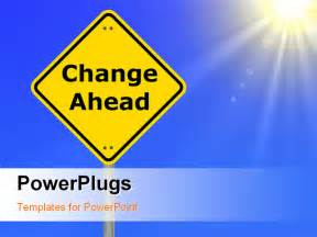 Change Template Powerpoint by Change Your Business For Financial Success Shown By Road