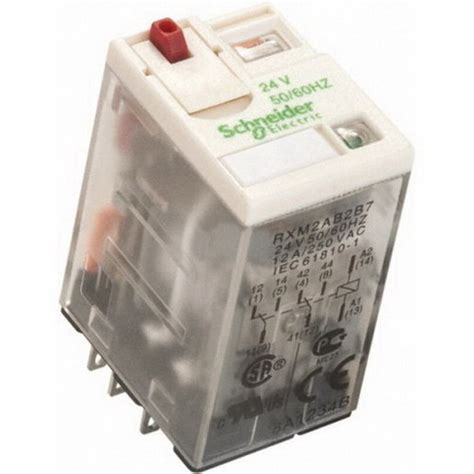 Schneider Relay In Rxm4ab2bd relay rxm mini led 4c o 6a 24vdc relays circuit