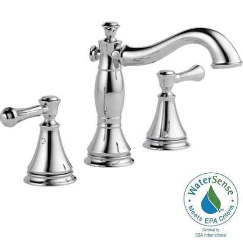 delta windemere 2 handle chrome 8 quot widespread bathroom delta windemere faucet chrome