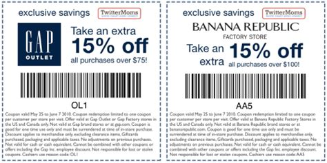 l factory outlet coupon gap outlet printable coupons html autos weblog