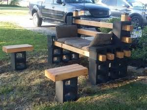 diy cinder block bench home design garden