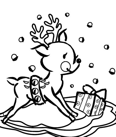 cute reindeer colouring page new calendar template site
