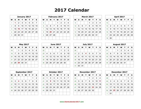 2017 calendar template 2017 printable calendar word weekly calendar template