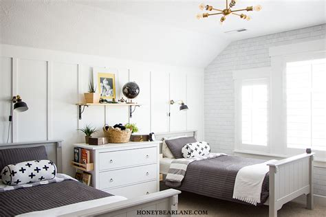 industrial farmhouse boys room makeover honeybear lane