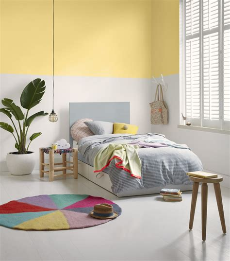 yellow kids bedroom british paints love note white colour chart palette