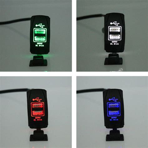 Charger Motor Hk 3 Port5 Conector 7 In 1 Usb Casan K Murah 1 12v 24v 3 1a motorcycle car dual usb port charger socket waterproof sales ebay