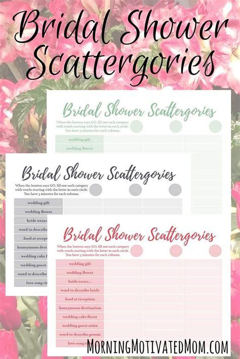 printable christian bridal shower games bridal shower game and free scattergories printable