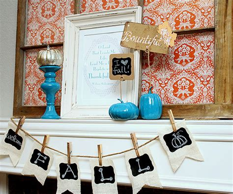 turquise and orange home decor native home garden design fall mantel decorating ideas from better homes and gardens