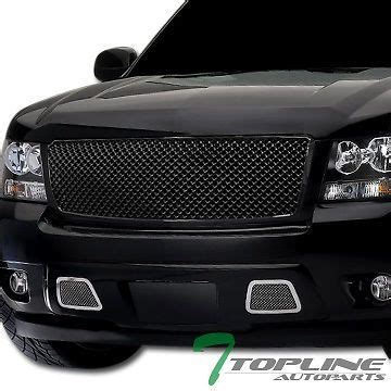 black mesh front hood bumper grill grille abs 2007 2014