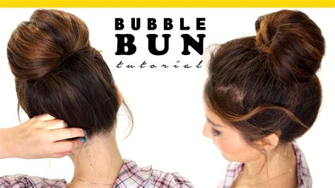easy to make bun hairstyles 2 minute bubble bun hairstyle easy hairstyles for medium