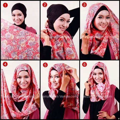 tutorial hijab pashmina menjadi turban 16 best v 234 tements et accessoires 224 porter images on